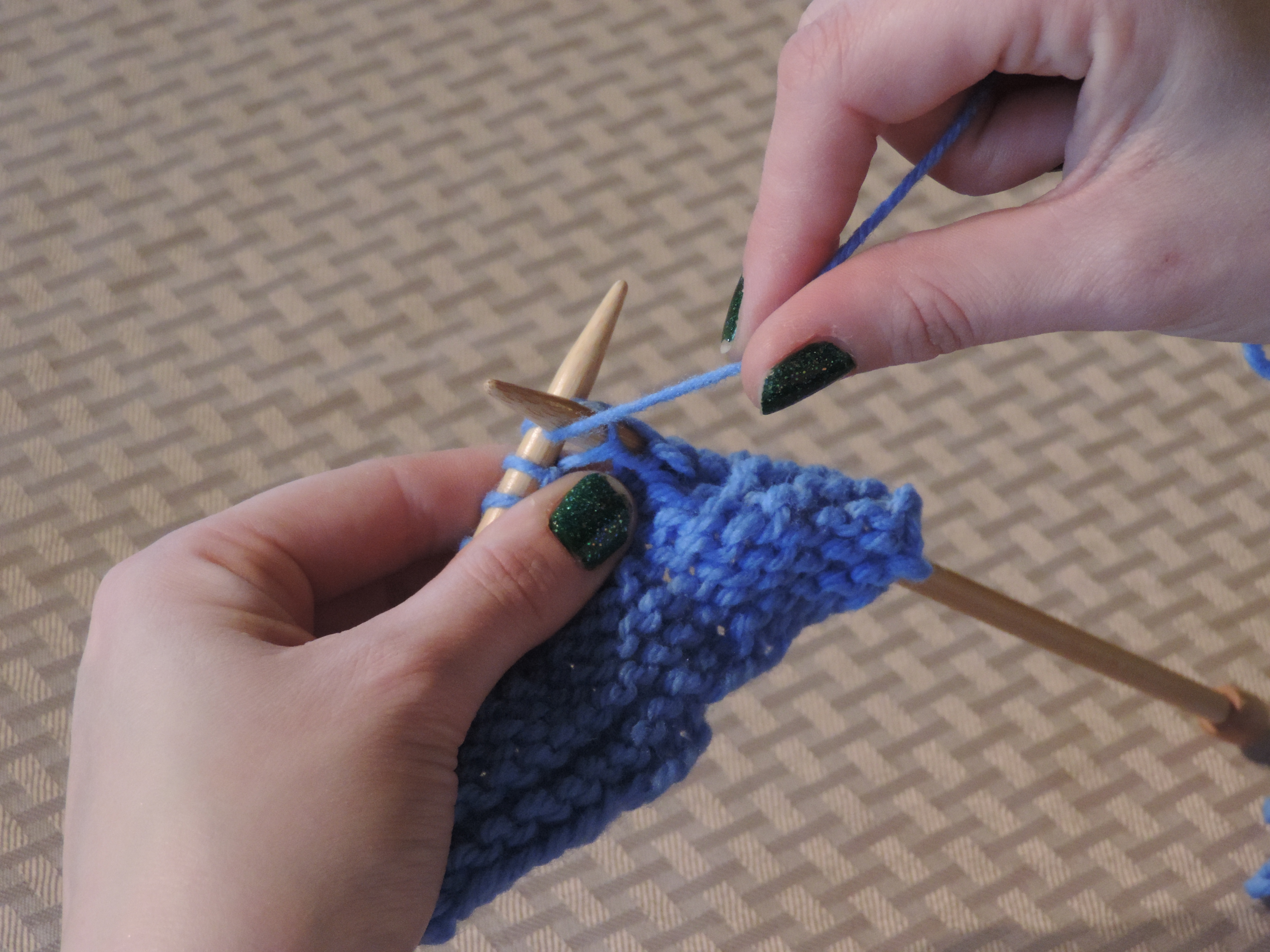 How To Do A Knit Stitch And Purl Stitch : P-Purl it real good.   Lattes & Llamas