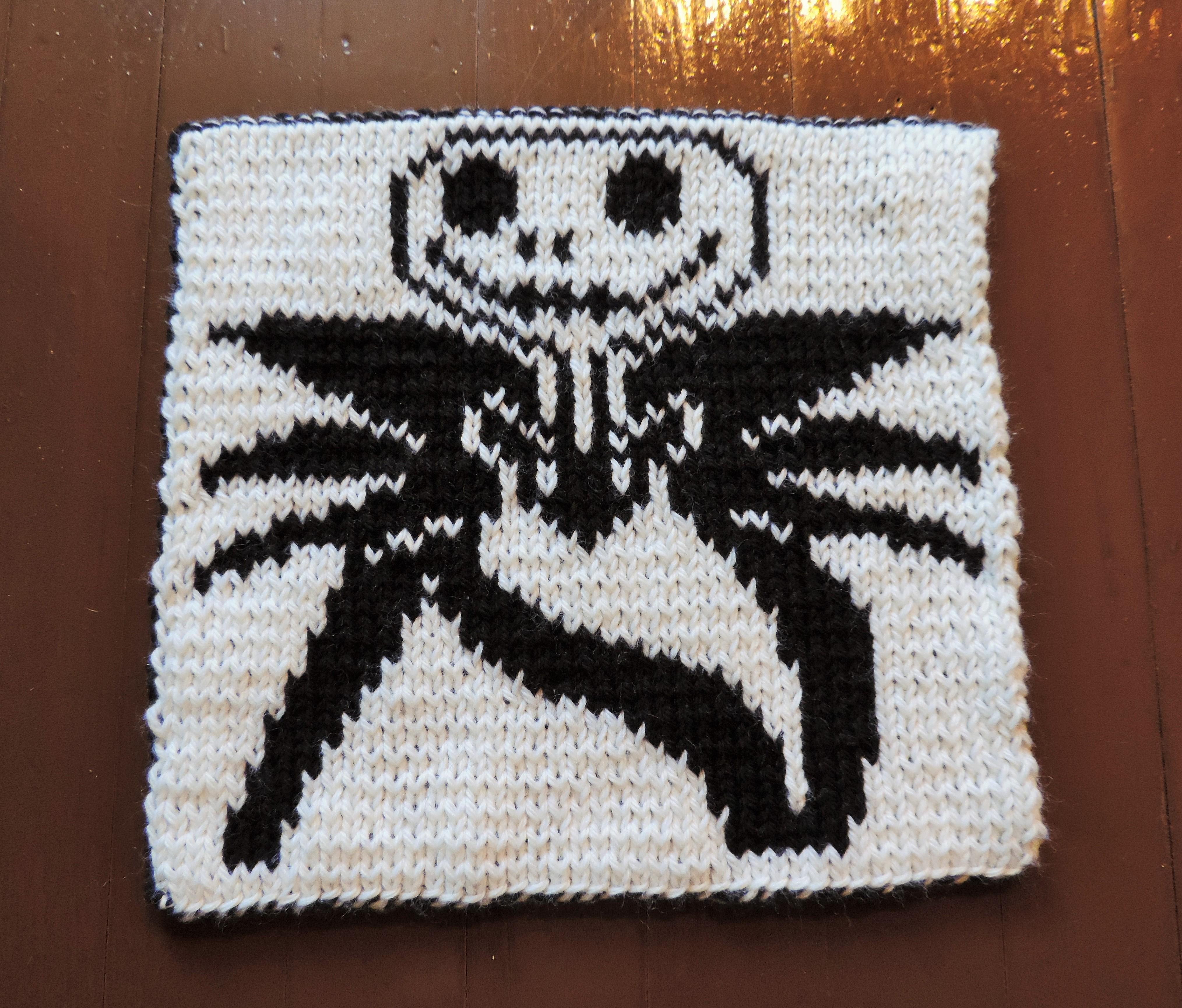 Nightmare Before Christmas Crochet Blanket.2014 Geek A Long Jack Skellington Lattes Llamas
